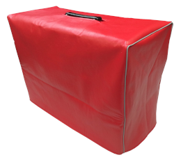 Red Vinyl Cover with Gray Piping
