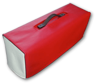 Red and White VinylCover with Black Piping