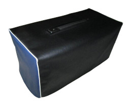 Black and Blue Vinyl Cover with White Piping
