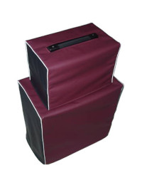 Black and Burgundy Vinyl Cover with White Piping